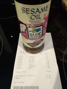 Blue Dragon Sesame Oil 69p at Poundstretcher Romford