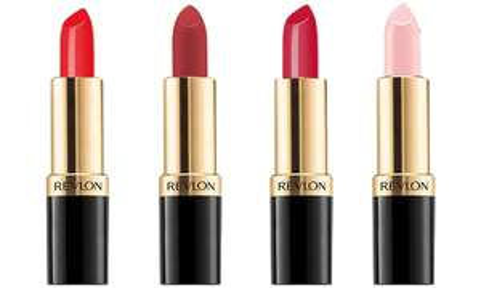 Four Revlon Super Lustrous Lipsticks £7.38 delivered @ Groupon - 2 Different sets available