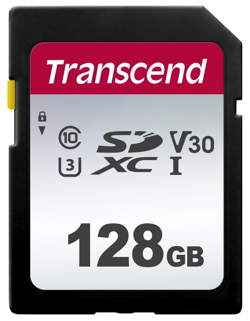 Transcend 128GB SDXC 300S Card, Class10, U3, V30, 95MB/s - £13.69 (Prime) / £18.18 (Non Prime) delivered @ Amazon (256GB SDXC 300S - £24.89)