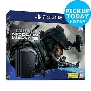 Sony PS4 Pro 1TB & Call of Duty: Modern Warfare Console Bundle for £278.99(PS4 500GB for £188.99) with Code free C&C @ Ebay/Argos