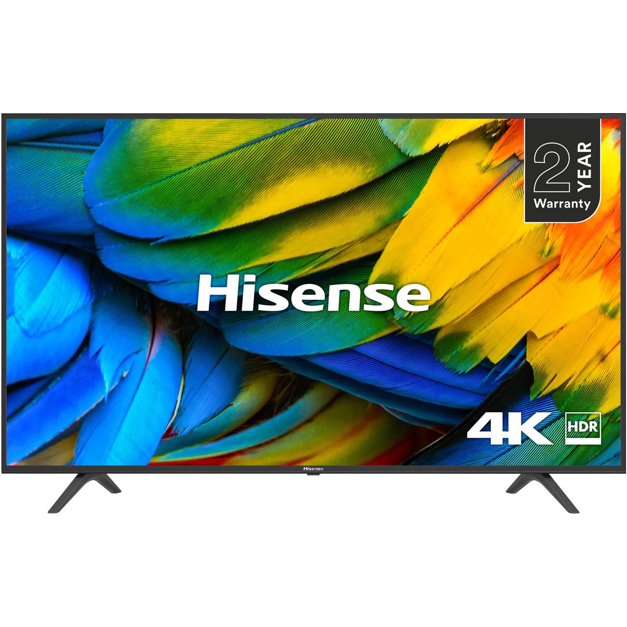 "Hisense H50B7100UK 50"" Smart 4K Ultra HD TV with HDR10 and DTS Studio Sound at ao.com £299"