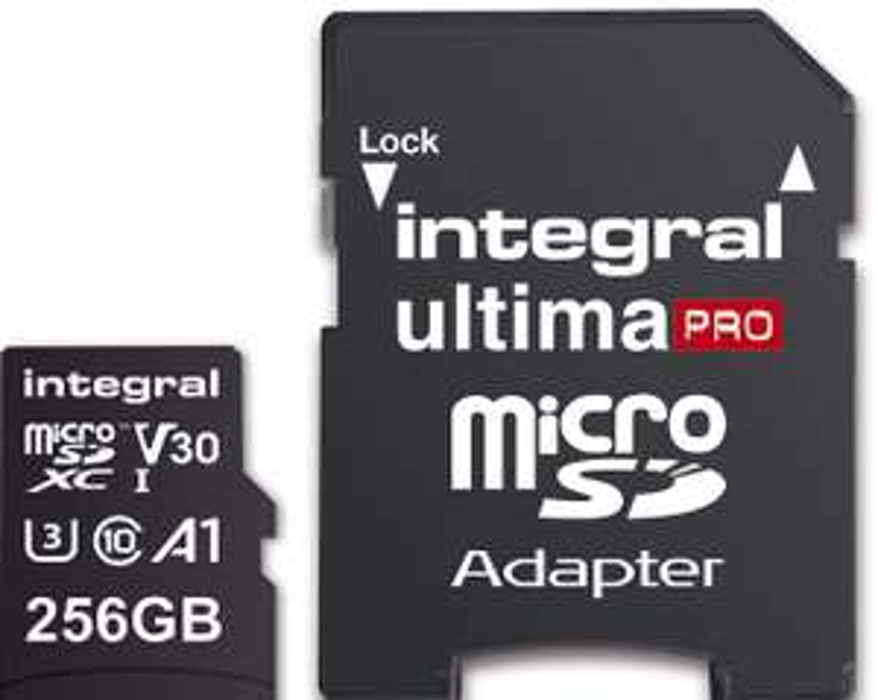 Integral UltimPro 256GB 4K Ultra-HD Video Premium High Speed 100/70MB/s R/W, V30/UHS-I/U3/A1/C10 for £22.99 Delivered @ Base