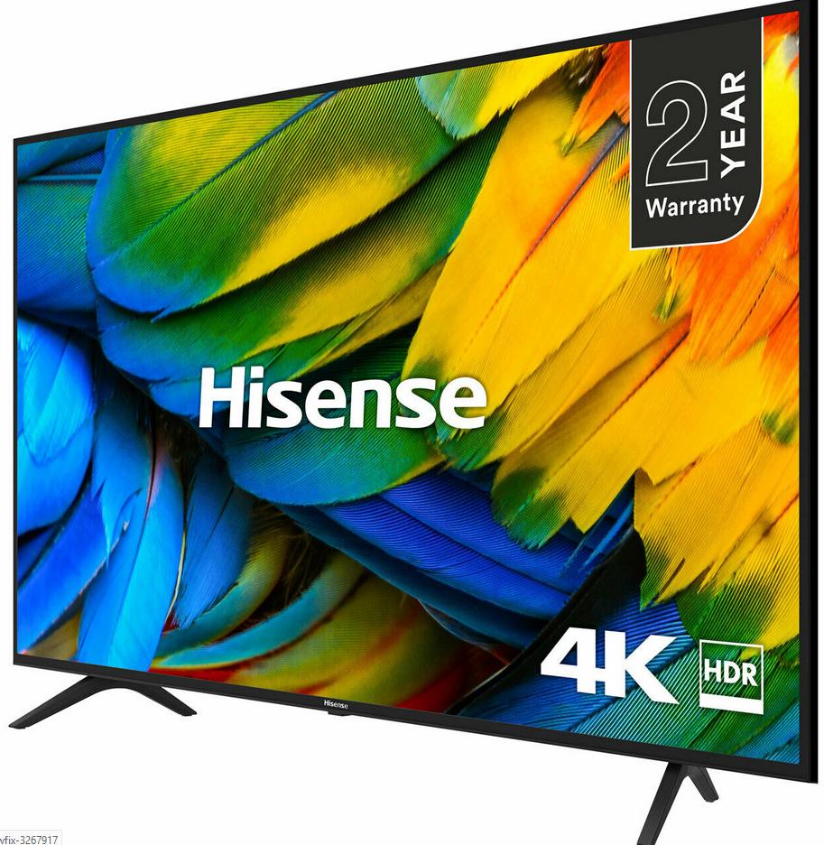 Hisense H50B7100UK B7100 50 Inch TV Smart 4K Ultra HD LED Freeview HD 3 HDMI + 2 Year Warranty - £269.10 with code @ AO eBay