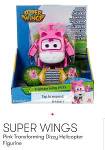 SUPER WINGS Pink Transforming Dizzy Helicopter Figurine £7.99 @ TKMaxx online