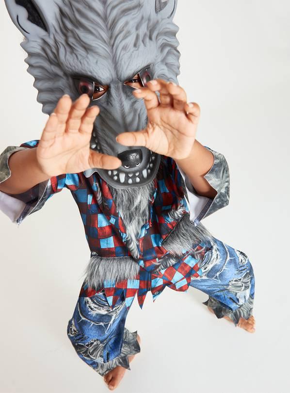 Halloween Grey Werewolf Costume & Mask - 3-4/5-6/7-8/9-10/11-12 years From £3.90 @ Argos