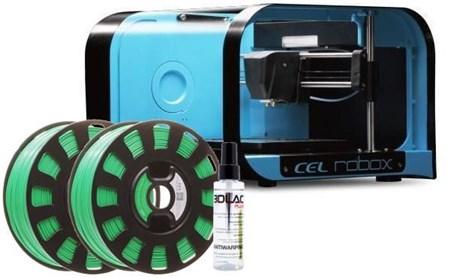 CEL ROBOX 3D PRINTER + 2X ROBOX ABS + 3D LAC PLUS NOVEMBER SPECIAL BUNDLE - £279 @ Box