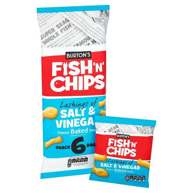 Burton's Fish & Chips Salt & Vinegar Multipack6 x 25g - 75p @ Sainsbury's