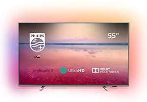 Philips Ambilight 55PUS6754/12 TV 55 inch LED Smart TV (4K UHD, HDR 10+, Dolby Vision, Dolby Atmos, Smart TV) dark silver £449.10 @ AO ebay