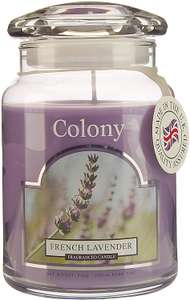 (Wax Lyrical) Colony Large French Lavender Candle Jar, 545g, (150 Hours Burn Time), Made In The UK £8.52 (Prime)/£13.01 (Non-Prime) @ Amazon