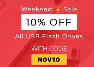 10% of USB drives with code at MyMemory
