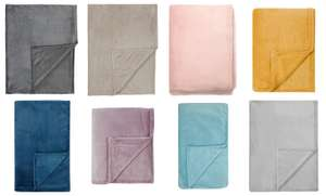 Supersoft Plush Throws for £4.25 @ George (Free click+collect)