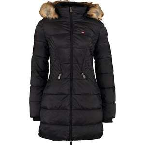 GEOGRAPHICAL NORWAY Black Faux Fur Hooded Coat £59.99 free click and collect @ Tk Maxx