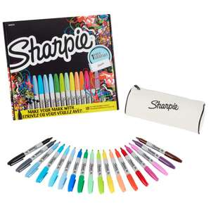 Sharpie Fine Permanent Markers Limited Edition Pack of 18 £8.99 with Free Click and Collect @ Ryman