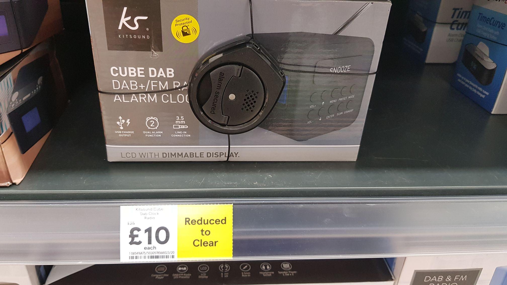 Kitsound Cube FM/DAB+ Radio £10 @ Tesco Extra Hayes