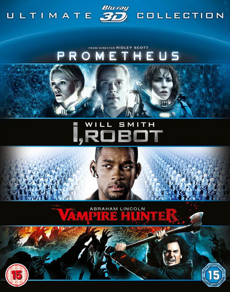 Prometheus / i Robot / Abraham Lincoln 3D Collection Blu-ray £4.99 + £1.99 Postage @ Zavvi