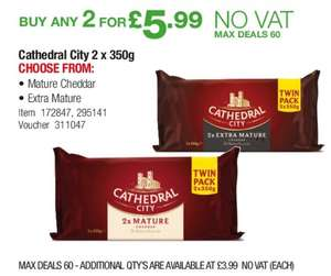 4 x 350g of Cathedral City for £5.99 @ Costco