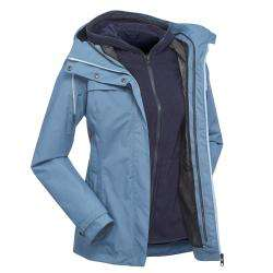 Forclaz Travel 3-in-1 Womens Waterproof Jacket - Blue £19.99 In Store - Free Click & Collect @ Decathlon