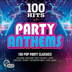 100 Hits Party Anthems £2.99. 5 CD boxset + £2.99 delivery Non prime @ Amazon