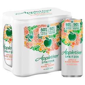Appletiser Spritzer Apple & Blood Orange Cans 6 x 250ml - £1.65 - Tesco Instore