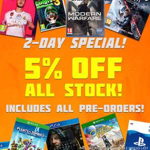 5% off ALL items - inc. Pre-Orders @ The Game Collection i.e. Call of Duty Modern Warfare (PS4/Xbox One) £42.70
