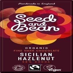 Seed and Bean 58% Dark Hazelnut Bar 85g - PACK OF 8 (Organic & Fairtrade) £8.41 @ Superfood Market Amazon