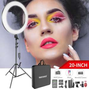 """20"""" 44W LED Light Ring Kit With Batteries / Charger / Power Adapter / Stand / Remote & More £69.29 Sold by GrandTrading UK / Amazon"""