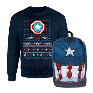 Captain America Backpack & Christmas Sweatshirt £21.98 Delivered (preorder) @ IWOOT