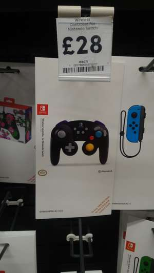 PowerA Wireless Nintendo Switch GameCube Style Controller (Black) In-Store @ Tesco