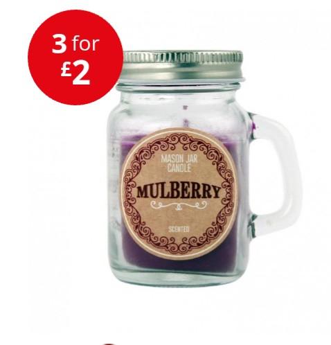 Mini Mason Jar Candles - 3 for £2 at Poundstretcher