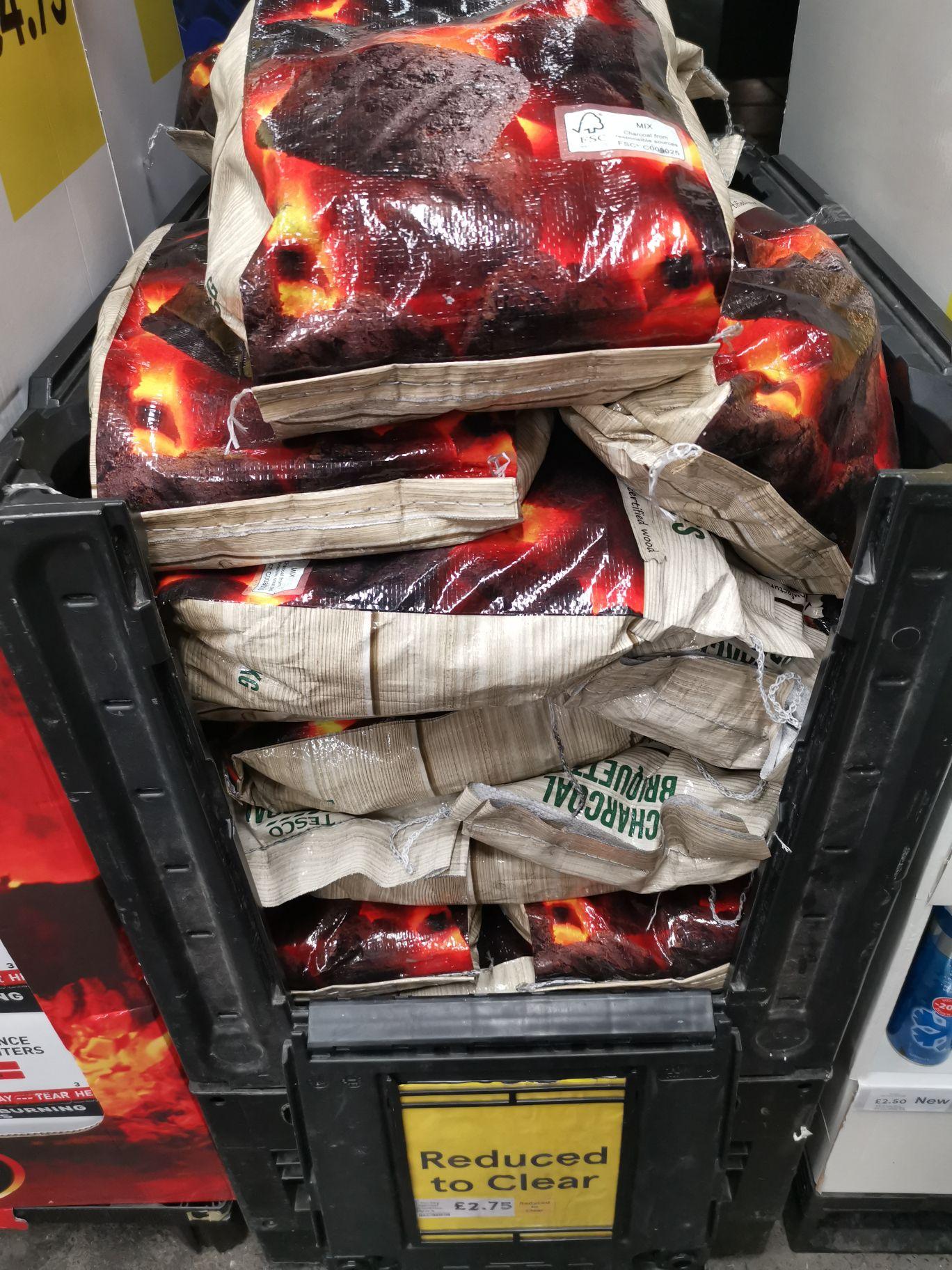 Tesco charcoal briquette £2.75