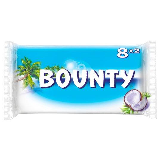 Bounty Milk Chocolate Bar Twin Pack 8x2 28.5g - 456g £2 @ Sainsbury's