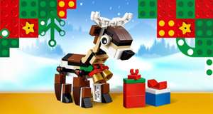 Free LEGO Reindeer Polybag with all £35+ Purchases @ LEGO Shop