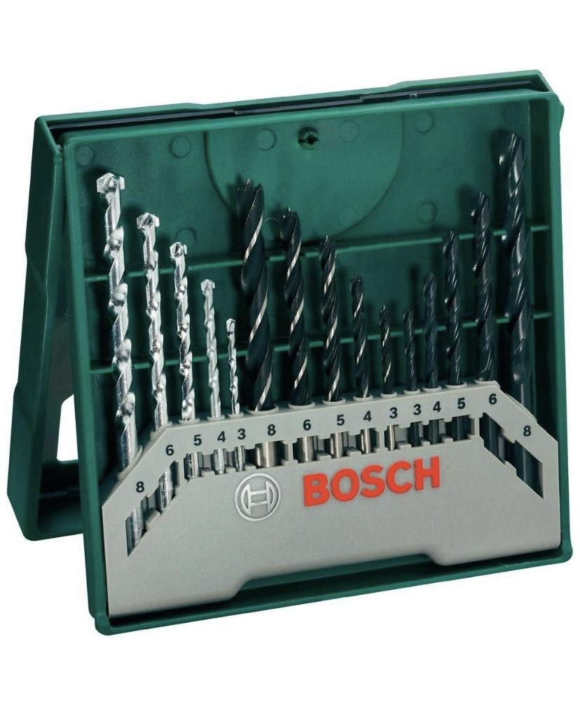 Bosch 15pc Mixed Drill Set £4.99 + £4.49 delivery Non Prime @ Amazon