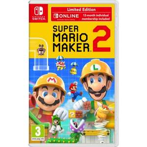Super Mario Maker 2 Limited Edition + 1 Year Online Membership £40.80 @The Game Collection ( Nintendo Switch )