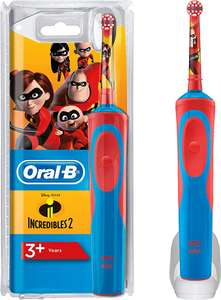 Oral-B Stages Power Kids Electric Rechargeable Toothbrush, Disney Incredibles Characters Only £14.95 prine +£4.49 non prime@ Amazon