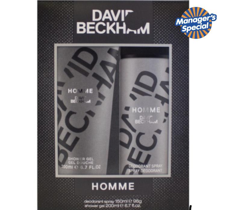 David Beckham Homme Deo & Shower Gel 2pk plus other DB gift sets in description