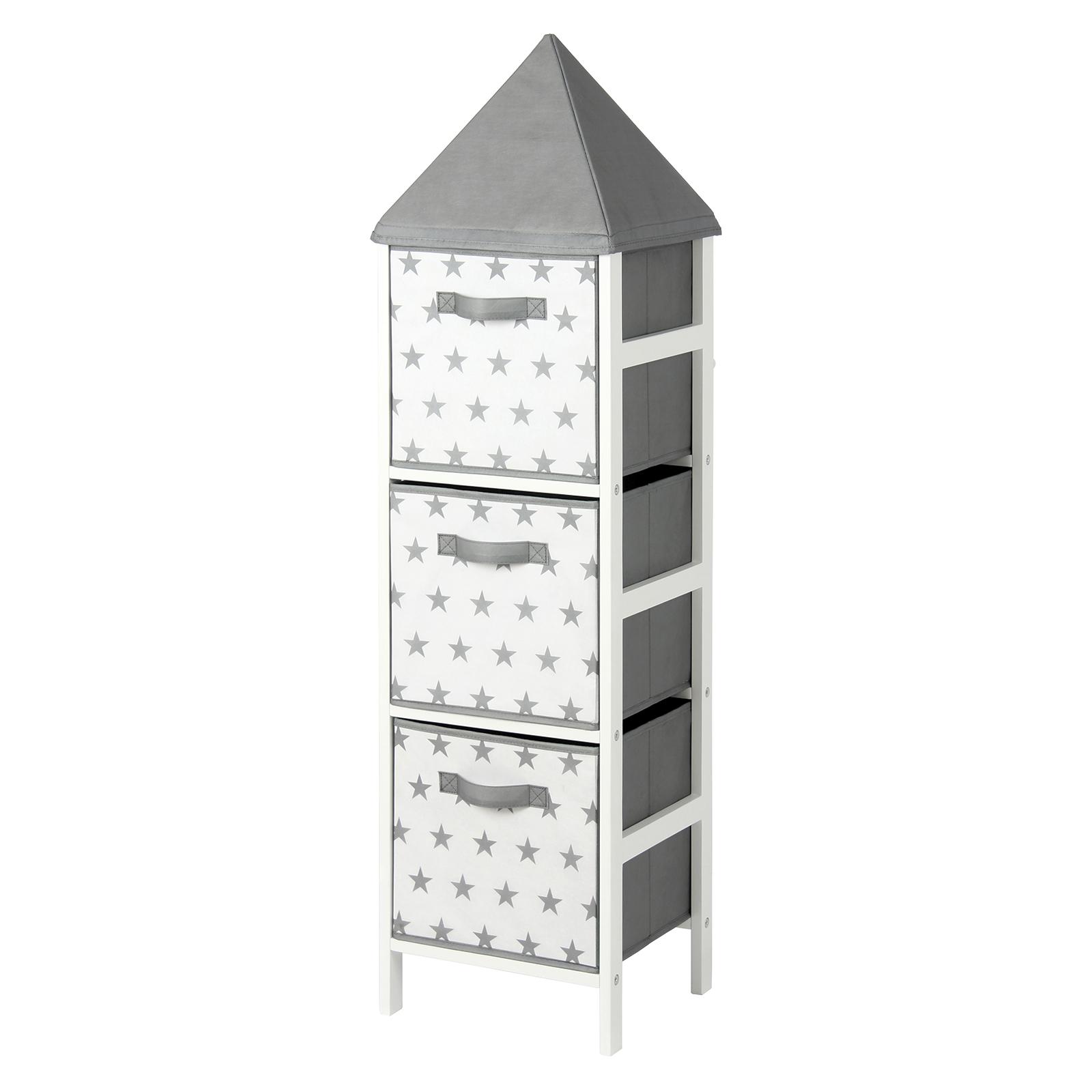 Kids grey three tier box storage tower, also in pink - £16.85 @ Homebase