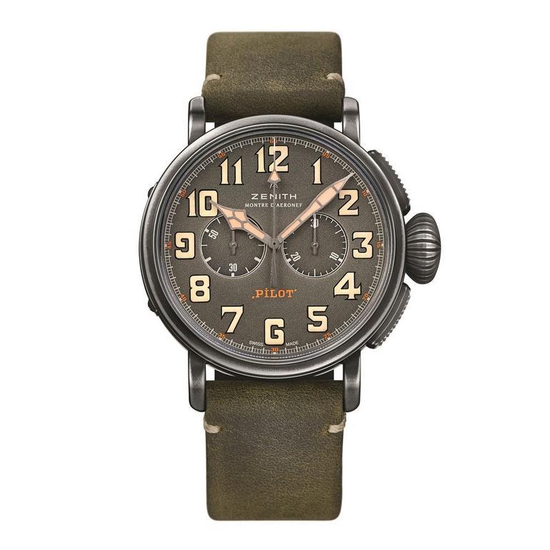 Zenith Pilot Type 20 Automatic Chronograph Men's Watch, £3,960 @ Beaverbrooks