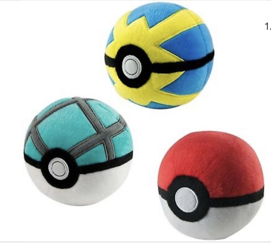 Pokémon Plush Pokeballs B&M - £2 (Bognor Store)