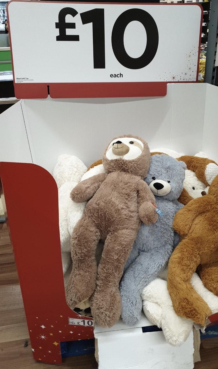 Asda cuddly toy approx 100cm - £10