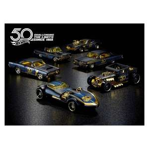 HOT WHEELS 50TH ANNIVERSARY BLACK & GOLD COLLECTION - £15 + £3.49 Delivery @ Pound Toy