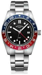 Rotary GB03013/04 Red/Black Easy Read Dial 42mm Mens Stainless Steel Watch - £62.40 delivered @ Argos eBay