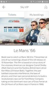 Le Mans 66 Free tickets Sky VIP Lots of locations