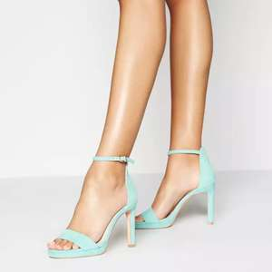 Faith - Green Suedette Loop High Stiletto Heel Platform Sandals £11.70 delivered @ Debenhams. Also available in pink