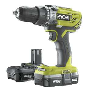 Ryobi ONE+ 18V Combi Drill Kit 2x batteries - £85 when using reserve and collect @ Homebase