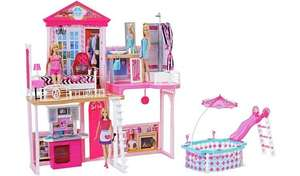 Complete Barbie Home Set with 3 Dolls and Pool - £55 @ Argos