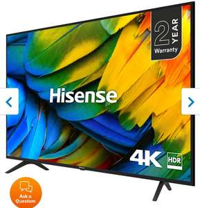 """Hisense H50B7100UK 50"""" Smart 4K Ultra HD TV with HDR10 and DTS Studio Sound - £299 delivered @ AO.com"""