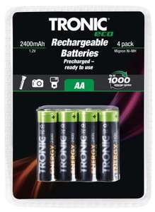Rechargeable AA batteries pack of four - £2.99 instore @ LIDL