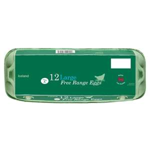 24 Large Free Range Eggs Class 'A' (2x12 pack) £3.00 @ Iceland
