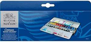 Winsor & Newton Cotman set - 24 half pans in metal box @ Amazon - £14.49 Prime (+£4.49 non-Prime)